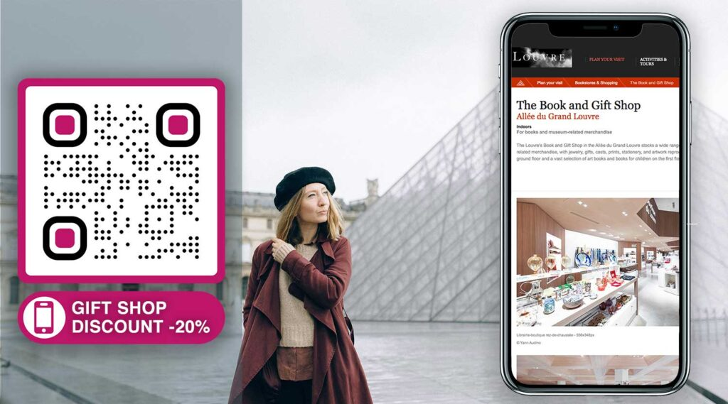 how to create a qr code for museum gift store