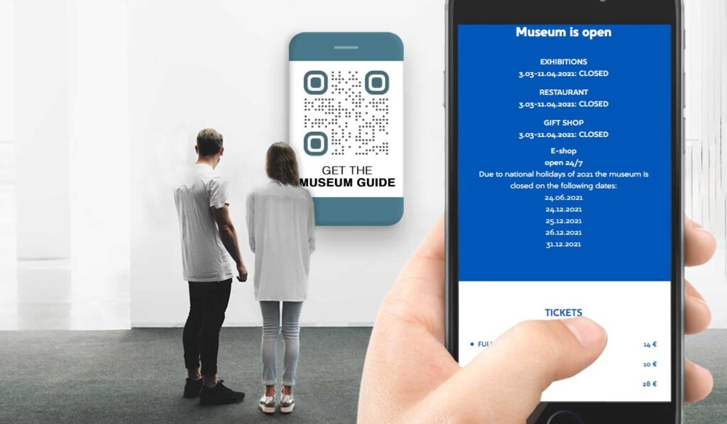 qr code maker for museum and exhibition